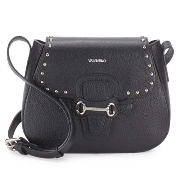3536b74db8 Valentino Juliette Leather Saddle Bag. NWT. Mario Valentino